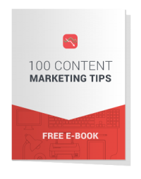 100 Content Marketing Tips eBook cover